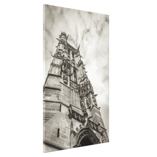 Gothic tower against the sky canvas print