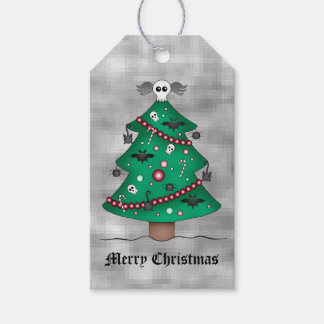 Gothic tree personalized gift tags