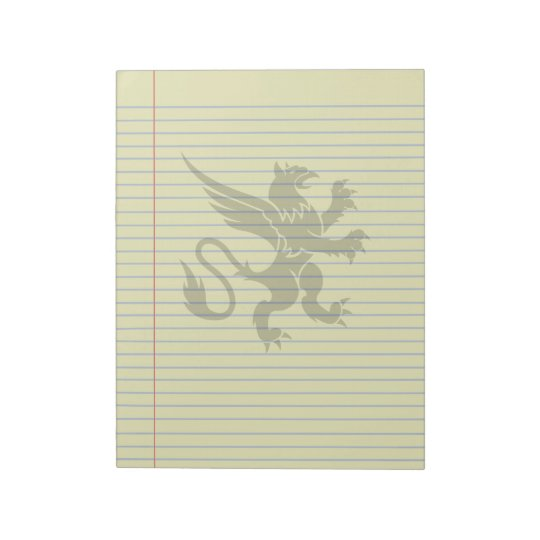Gothic Tribal Griffin Fantasy Legal Notepad