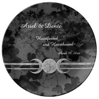 Gothic Triple Moon Handfasting  Ste Porcelain Plate