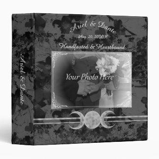 Gothic Triple Moon Handfasting  Ste Vinyl Binder