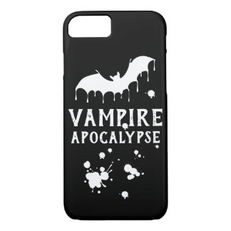 Gothic Vampire Apocalypse all black bat iPhone 8/7 Case