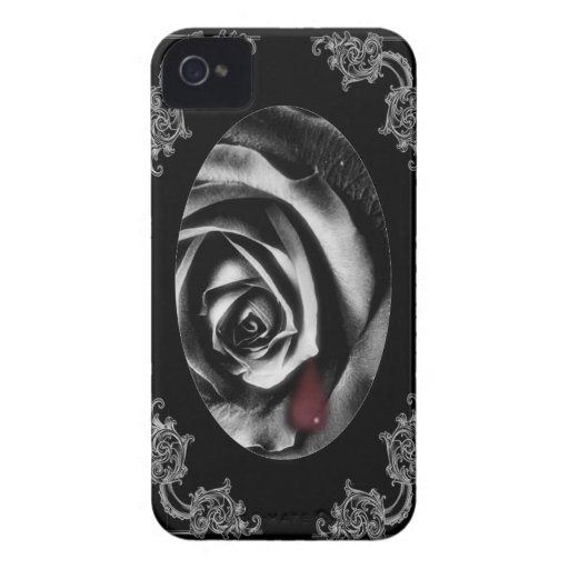 Gothic Vampire Black rose  balckberry phone case Blackberry Bold Covers