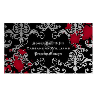 Gothic vampire Halloween Pack Of Standard Business Cards