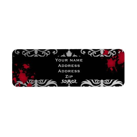 Gothic vampire Halloween wedding personalized Return Address Label