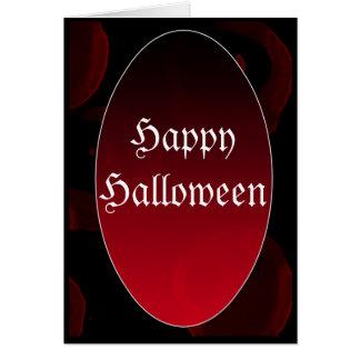 Gothic vampire HappyHalloween Card
