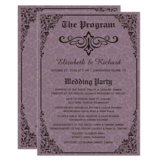 Gothic Victorian Damask Wedding Programs