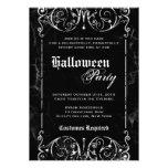 Gothic Victorian Spooky Black Halloween Party Custom Invites