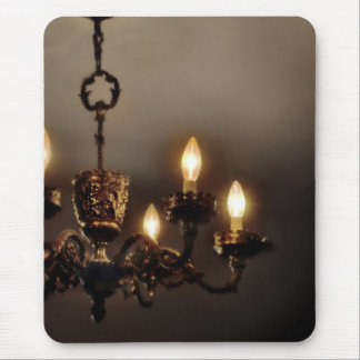 Gothic Vintage Chandelier Mouse Pad