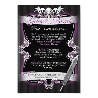 Gothic Wedding Invitation - Commission