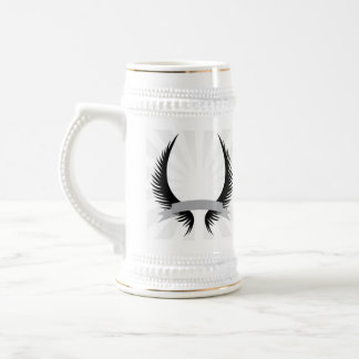 Gothic Wings Crest Design Beer Stein
