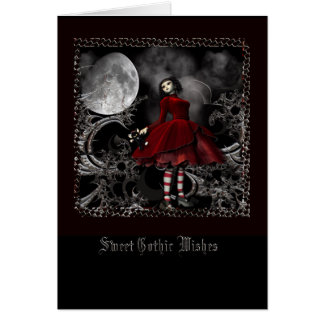 Gothic Wishes Card