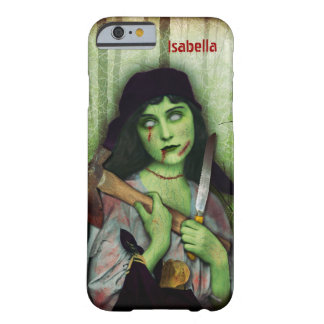 Gothic Zombie Girl Halloween Horror Name Barely There iPhone 6 Case