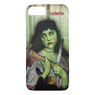 Gothic Zombie Girl Halloween Horror Name Case-Mate iPhone Case