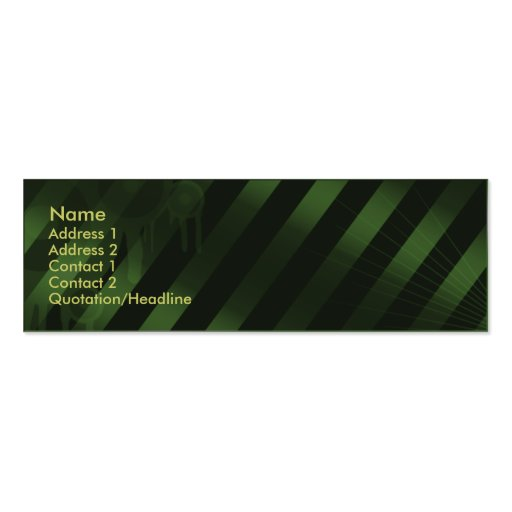 Gothica Profile Card - Green Business Card