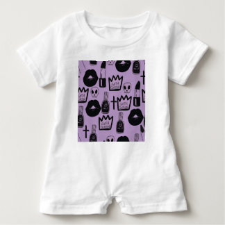 gotica queen purpura baby romper