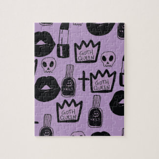 gotica queen purpura jigsaw puzzle