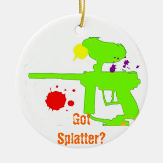 GotSplatter? Round Ceramic Ornament