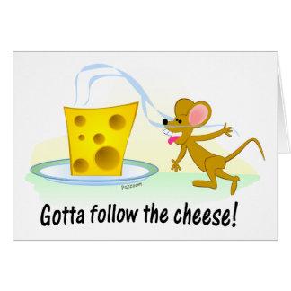 Gotta Follow the Cheese! Card