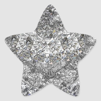 Gotta Lotta Diamonds Background Star Sticker