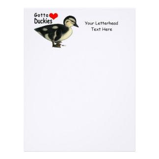 Gotta Love Duckies Letterhead