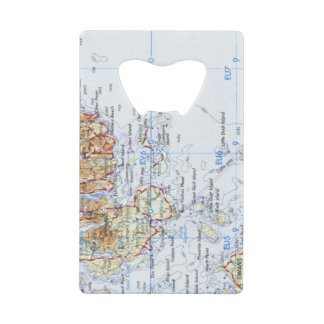 Gotts Island Map Credit Card Bottle Opener