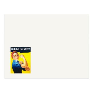 GOTV Rosie Riveter VOTE 2018 postcard