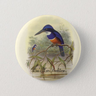 Gould - Four-Coloured Kingfisher Bookstore Promo 2 Inch Round Button