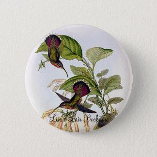 Gould - Lanceolate Hermit Hummingbird 2 Inch Round Button