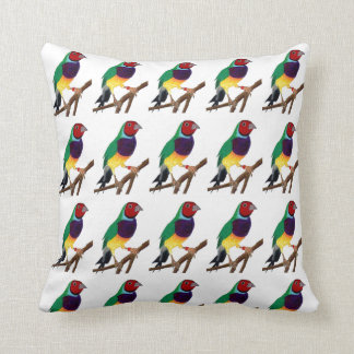 ~ Gouldian Finch ~ Original Art ~ Throw Pillow
