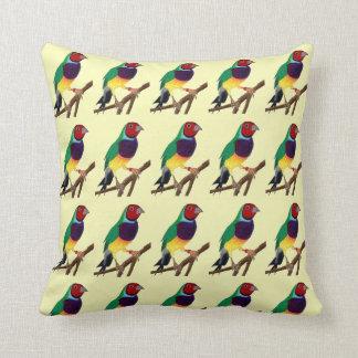 ~ Gouldian Finch ~ Original Art ~ Throw Pillow