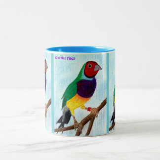 ~ Gouldian Finch ~ Original Art ~ Two-Tone Coffee Mug