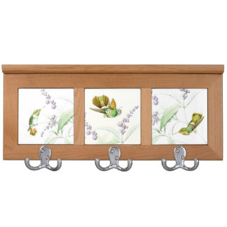 Goulds' Hummingbird Birds Wildlife Flowers Coat Racks