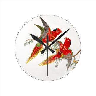 Goulds Lorikeet Birds Clock