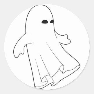Goule de Halloween Autocollants Ronds