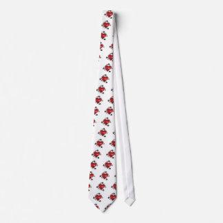 goupille de sécurité rouge de paillettes cravate