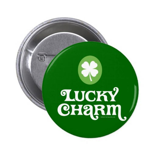 Goupilles du jour de St Patrick chanceux de charme Badges Avec Agrafe