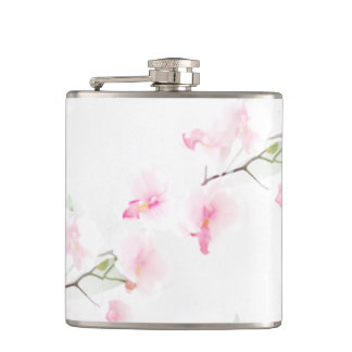 Gourd with vinyl envelope Pattern Orchis Hip Flask