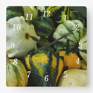 Gourds Galore Square Wall Clock