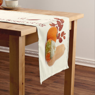 Gourds Thanksgiving Fall Table Runner