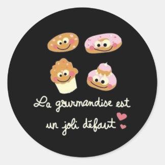 Gourmandise Classic Round Sticker