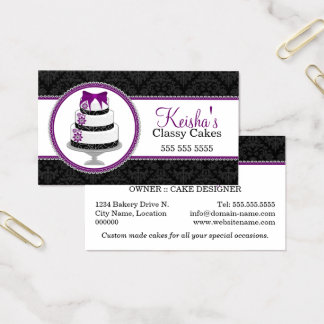 Gourmet Cake Bakery Business Card