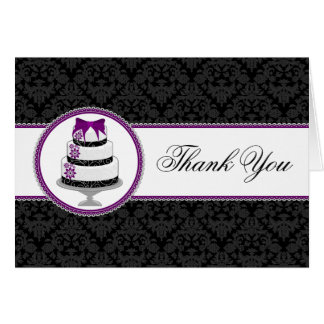 Gourmet Cake Thank You Cards
