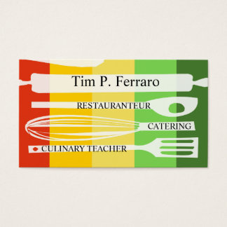 Gourmet Chef Catering Promotional Promo Culinary Business Card