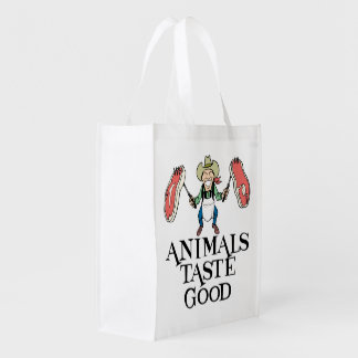 Goût d'animaux bon sac réutilisable d'épcierie