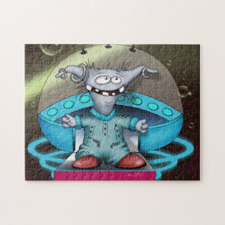 GOUZOUILLE ALIEN CARTOON PUZZLE 11 X 14
