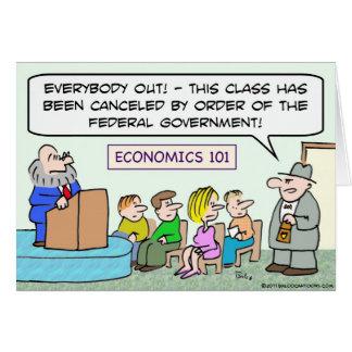 goverment closed economics class card