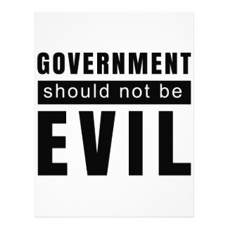 Goverment shouldn't be evil letterhead