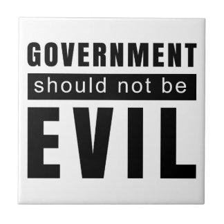 Goverment shouldn't be evil tile