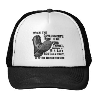 Government Boot Orwell.png Trucker Hat